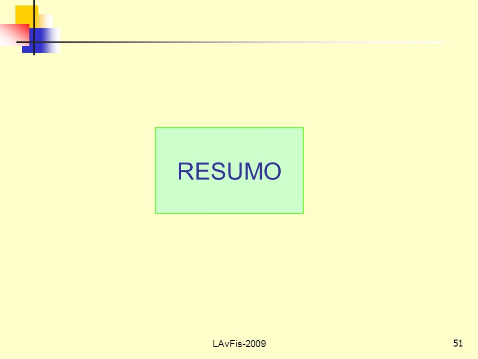 51 LAvFis-2009 RESUMO