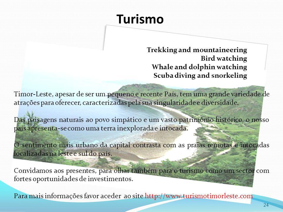Turismo 24 Timor-Leste, apesar de ser um pequeno e recente País, tem uma grande variedade de atrações para oferecer, caracterizadas pela sua singulari