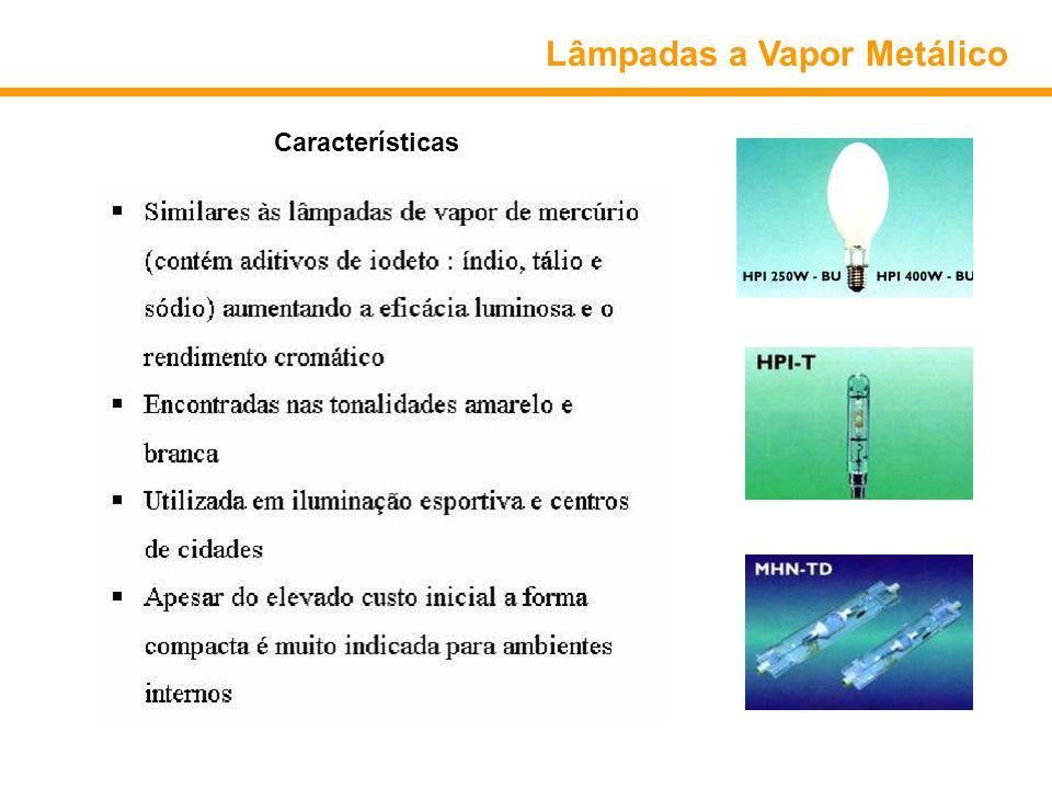 Lâmpadas a Vapor Metálico Características