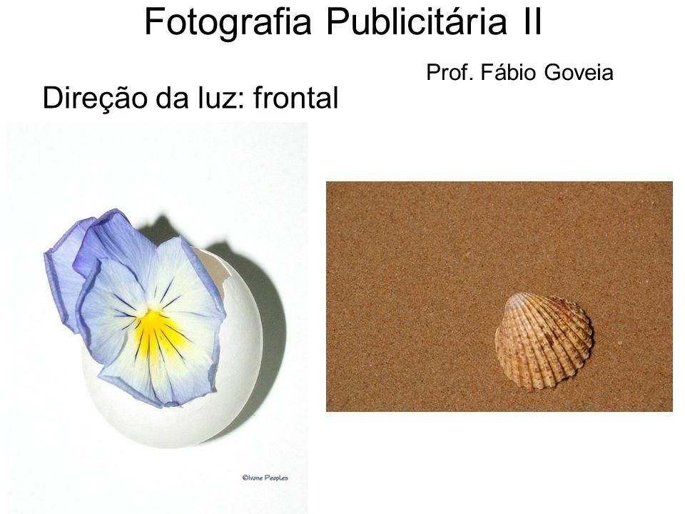 Direção da luz: frontal Fotografia Publicitária II Prof. Fábio Goveia