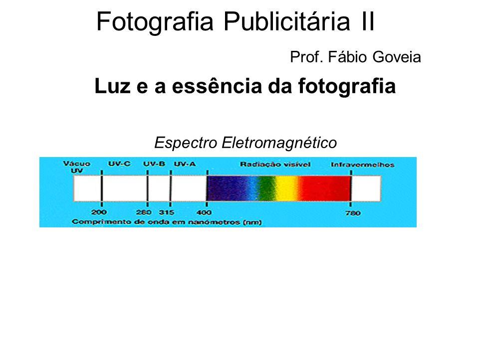 Fotografia Publicitária II Prof. Fábio Goveia Luz e a essência da fotografia Espectro Eletromagnético