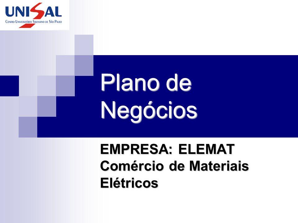 Plano de Negócios EMPRESA: ELEMAT Comércio de Materiais Elétricos