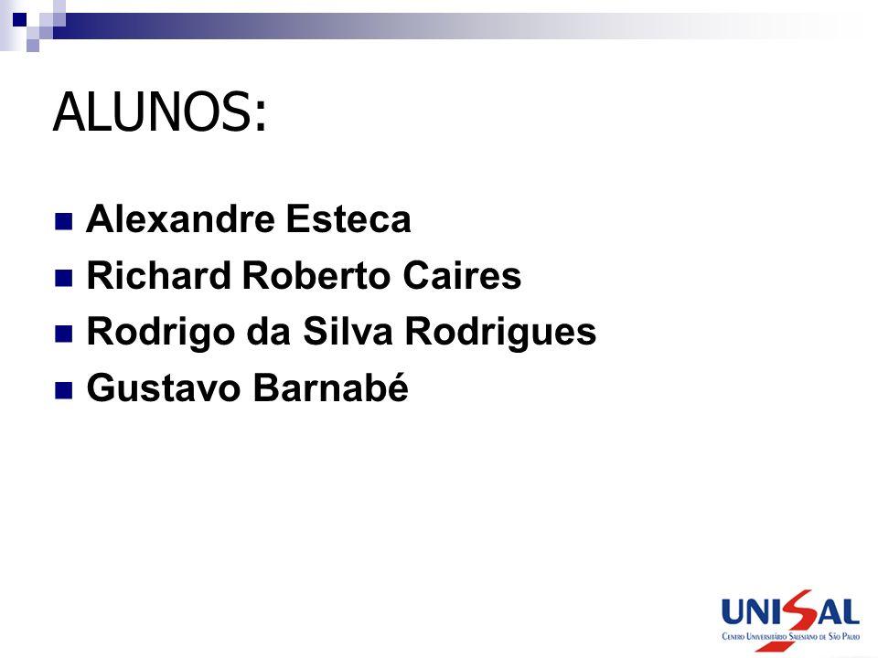 ALUNOS: Alexandre Esteca Richard Roberto Caires Rodrigo da Silva Rodrigues Gustavo Barnabé