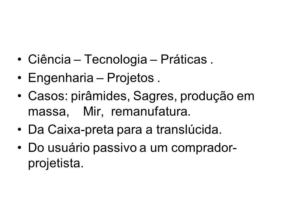 Ciência – Tecnologia – Práticas.Engenharia – Projetos.