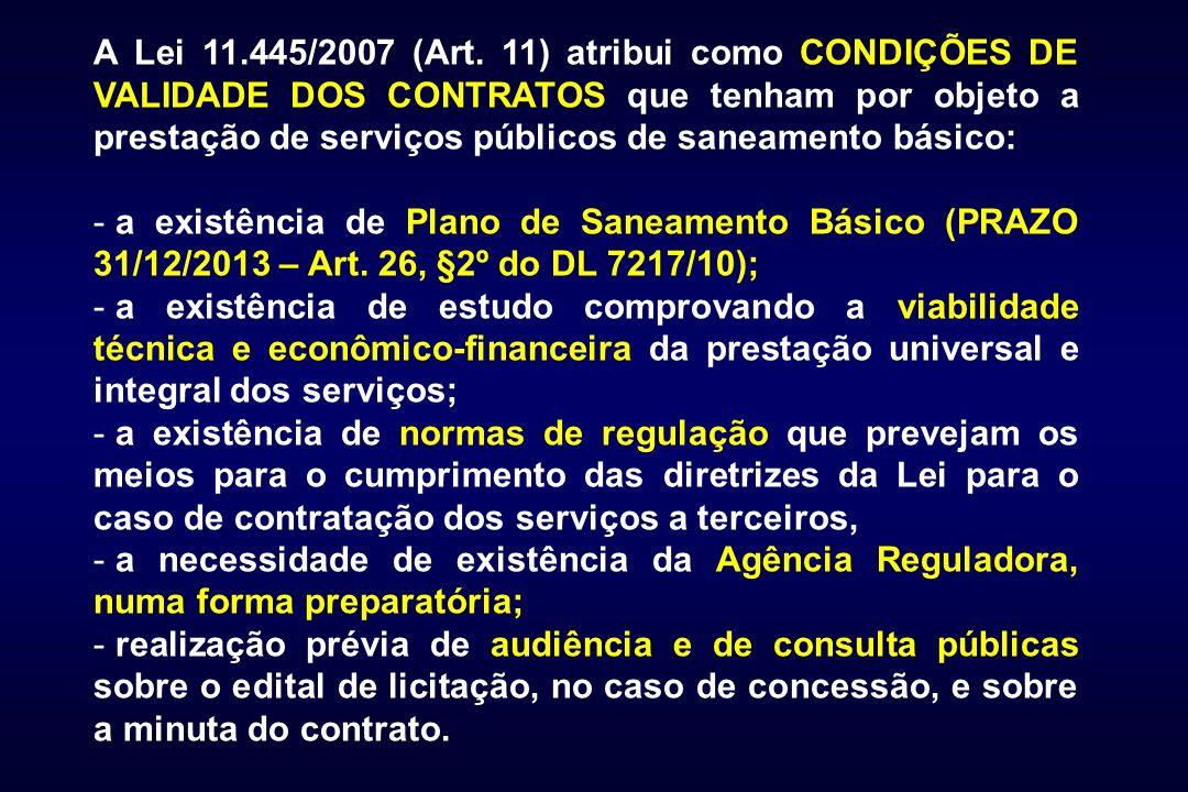 A Lei 11.445/2007 (Art.