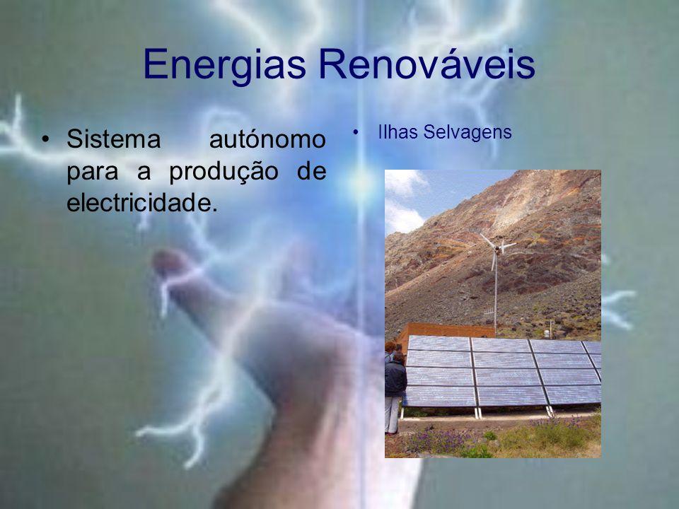 Energias Renováveis Sistema autónomo para a produção de electricidade. Ilhas Selvagens