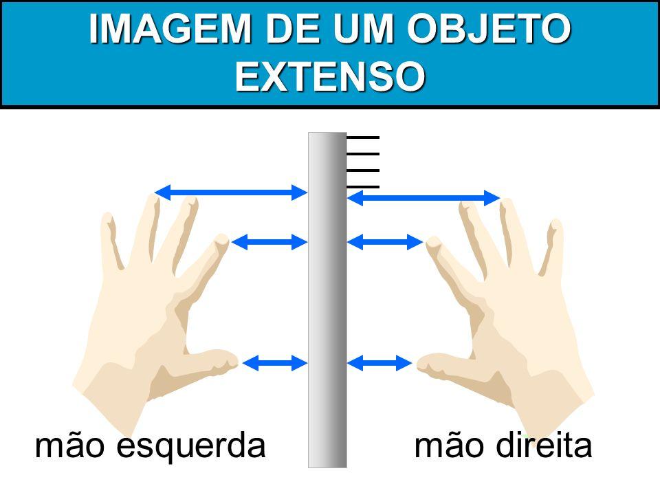 IMAGEM DE UM OBJETO EXTENSO mão esquerdamão direita