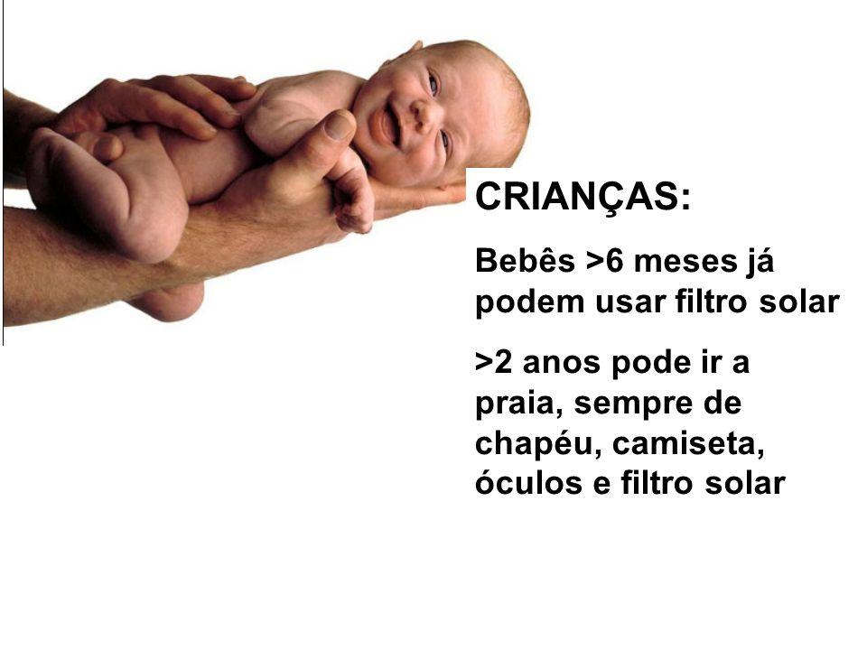 ZZZ m CRIANÇAS: Bebês >6 meses já podem usar filtro solar >2 anos pode ir a praia, sempre de chapéu, camiseta, óculos e filtro solar... ;