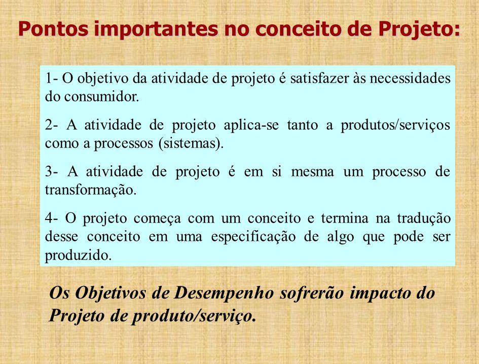 Princípios Gerais de Projeto em Produção Projeto é o processo conceitual através do qual algumas exigências funcionais de pessoas, individualmente ou