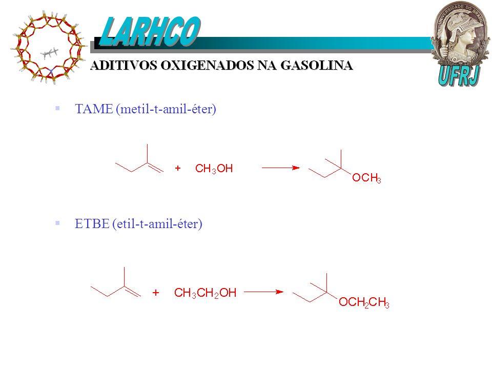 TAME (metil-t-amil-éter) ETBE (etil-t-amil-éter)