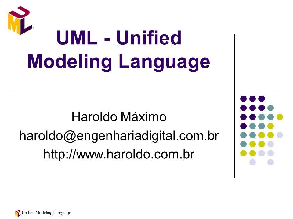 Unified Modeling Language 12 Estados inicial e final Notação da UML para estados: