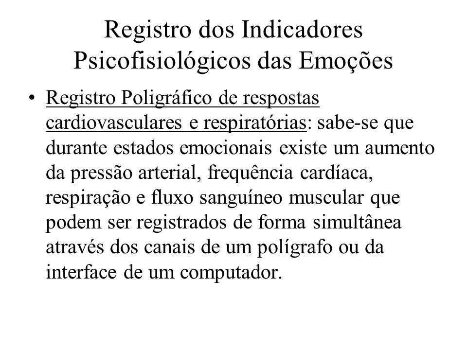 Registro dos Indicadores Psicofisiológicos das Emoções Registro Poligráfico de respostas cardiovasculares e respiratórias: sabe-se que durante estados