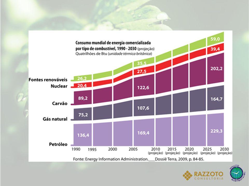 Dados de janeiro de 2010 mostram que a energia brasileira é produzida nas seguintes proporções: Hidrelétrica: 73,63% (838 usinas que produzem 78.793.231 KW) Gás: 11,27% (125 usinas que produzem 12.055.295 KW) Biomassa: 5,82% (356 usinas que produzem 6.227.660 KW) Petróleo: 5,36% (829 usinas que produzem 5.735.637 KW) Nuclear: 1,88% (2 usinas que produzem 2.007.000 KW) Carvão mineral: 1,43% (9 usinas que produzem 1.530.304 KW) Eólica: 0,62% (37 usinas que produzem 659.284 KW) Solar: menos de 0,01% (1 usinas que produzem 20 KW) Total: 107 mil MW produzidos em 2.197 usinas