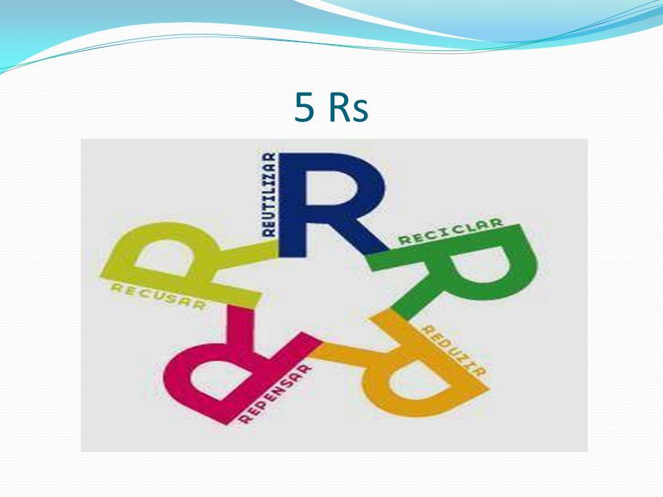 1º R: Repensar.É muito importante repensar hábitos de consumo e descarte.