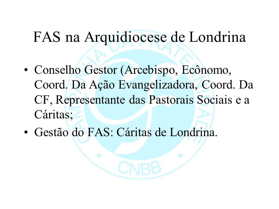 FAS na Arquidiocese de Londrina Conselho Gestor (Arcebispo, Ecônomo, Coord.