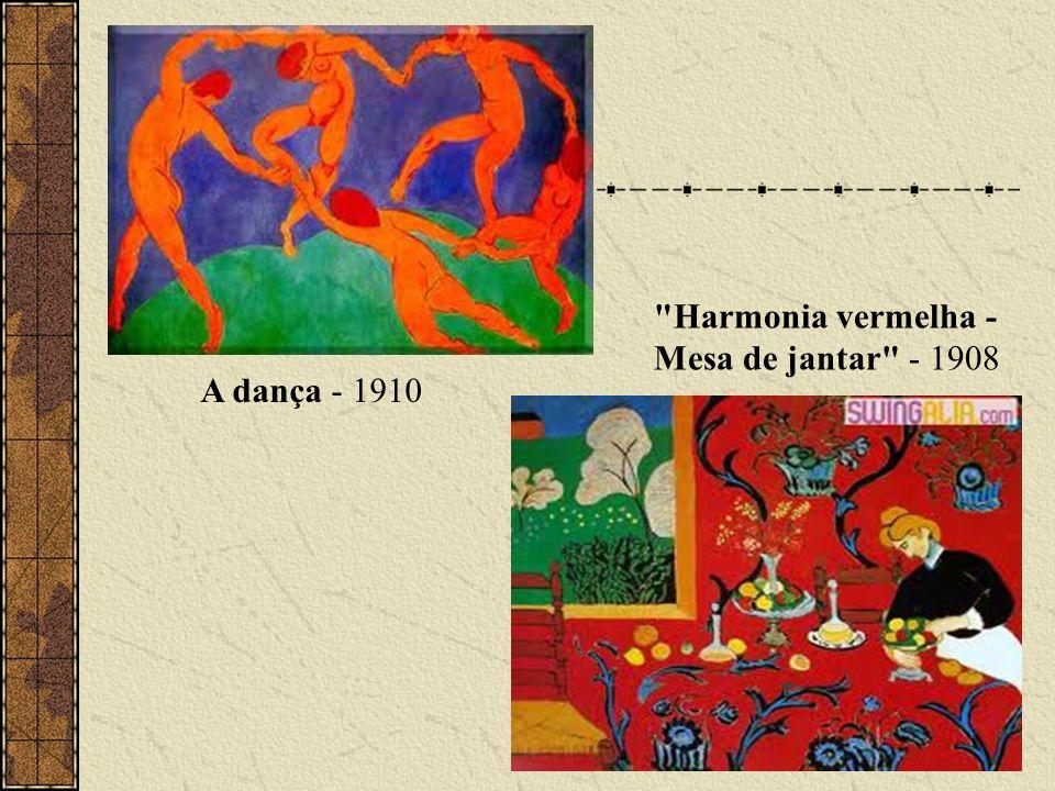 A dança - 1910 Harmonia vermelha - Mesa de jantar - 1908