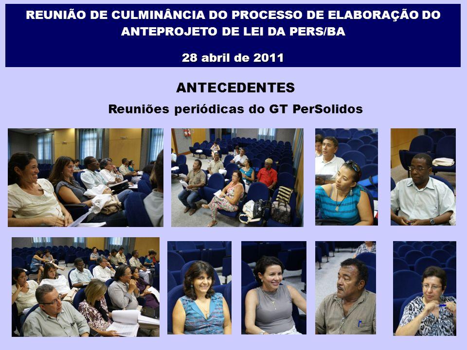 Eventos de Apresentação do Anteprojeto da PERS/BA 1º.