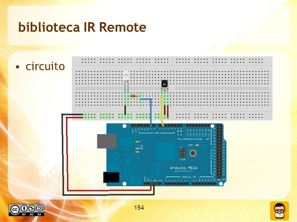 154 biblioteca IR Remote circuito