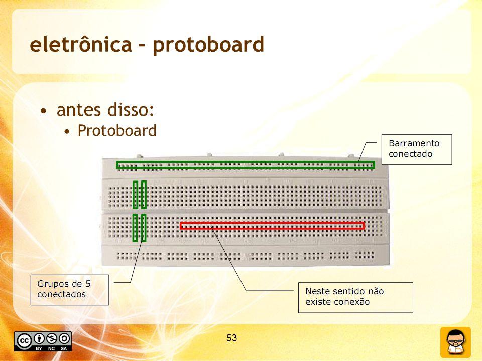 53 eletrônica – protoboard antes disso: Protoboard