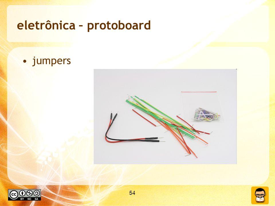 54 eletrônica – protoboard jumpers