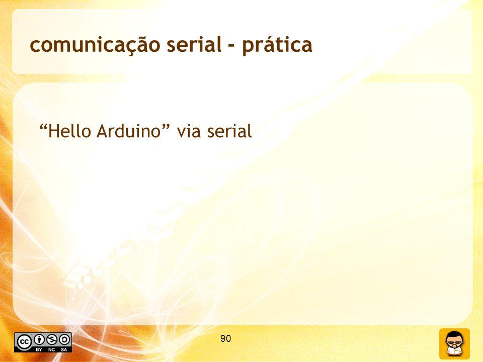 90 comunicação serial - prática Hello Arduino via serial