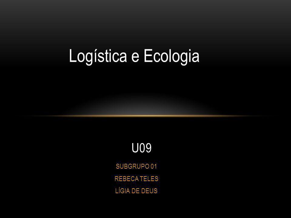 SUBGRUPO 01 REBECA TELES LÍGIA DE DEUS U09 Logística e Ecologia