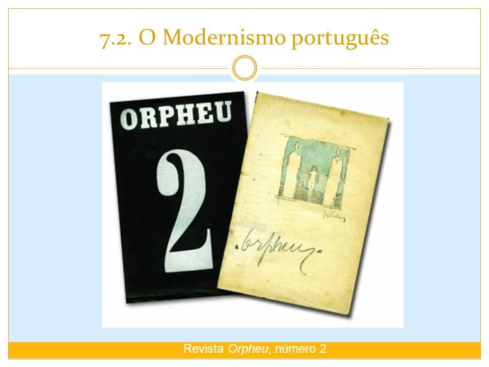 7.2. O Modernismo português Revista Orpheu, número 2