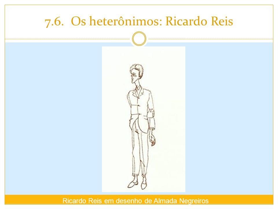 7.6. Os heterônimos: Ricardo Reis Ricardo Reis em desenho de Almada Negreiros