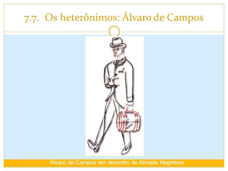 7.7. Os heterônimos: Álvaro de Campos Álvaro de Campos em desenho de Almada Negreiros