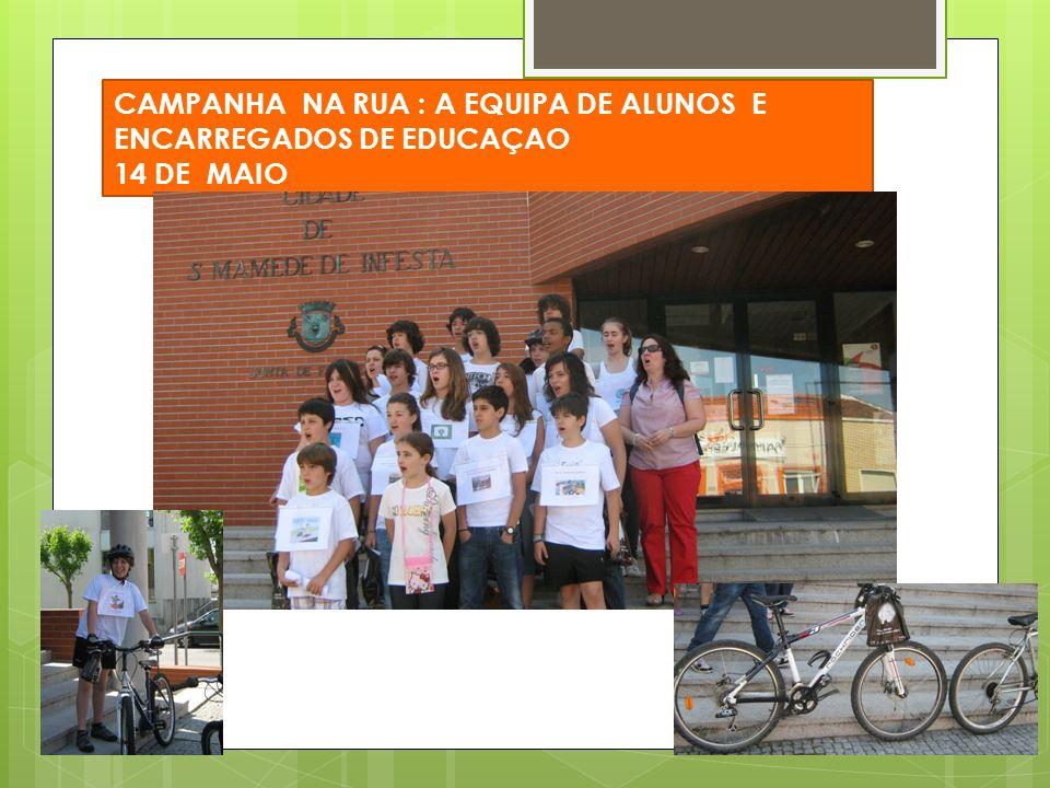 CAMPANHA NA RUA : A EQUIPA DE ALUNOS E ENCARREGADOS DE EDUCAÇAO 14 DE MAIO