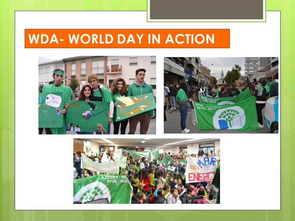 WDA- WORLD DAY IN ACTION