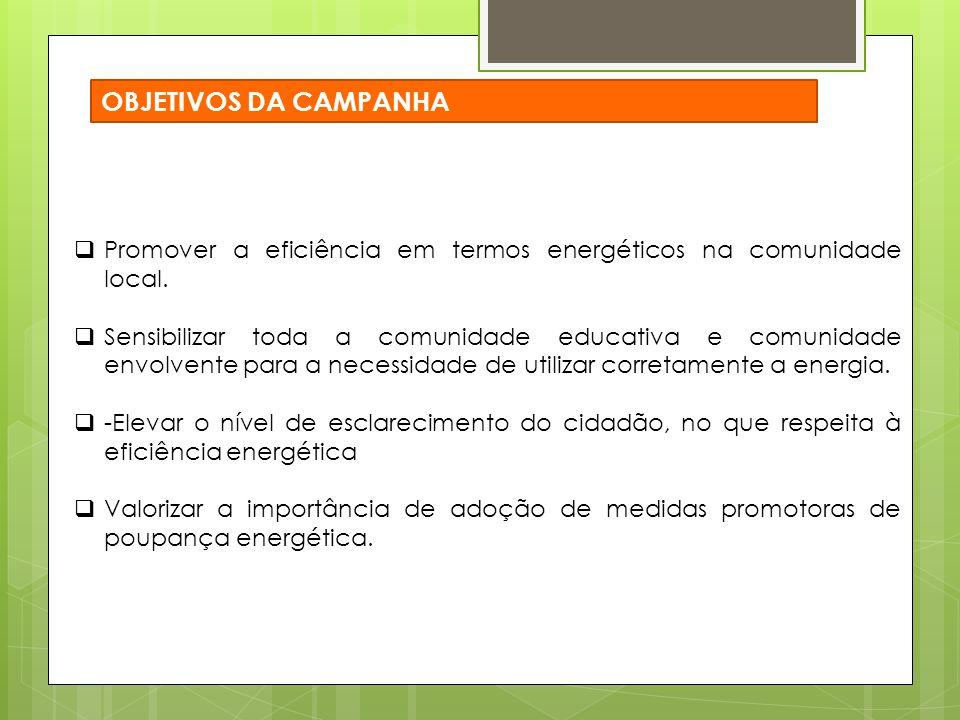 Promover a eficiência em termos energéticos na comunidade local.