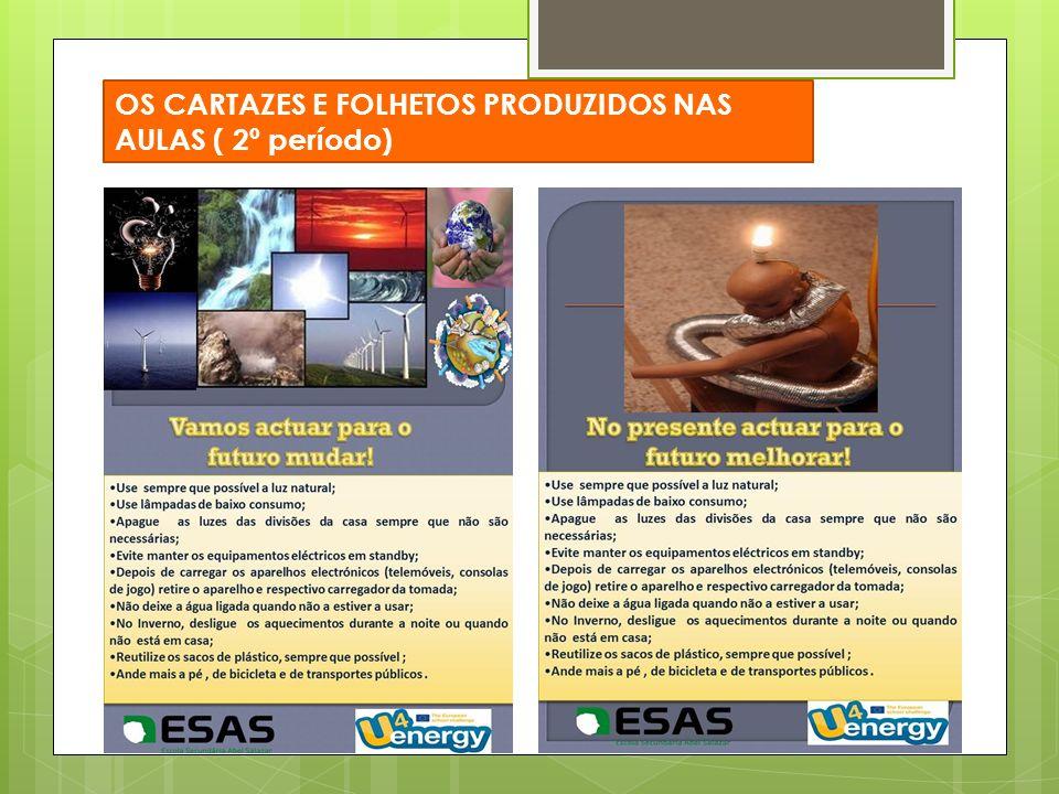 OS CARTAZES E FOLHETOS PRODUZIDOS NAS AULAS ( 2º período)