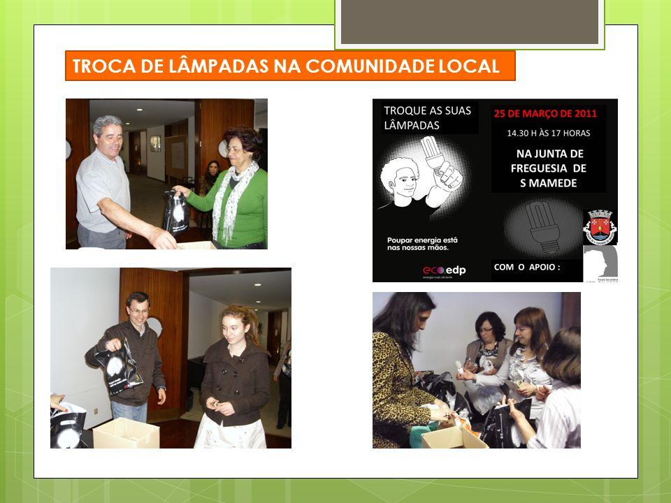 TROCA DE LÂMPADAS NA COMUNIDADE LOCAL