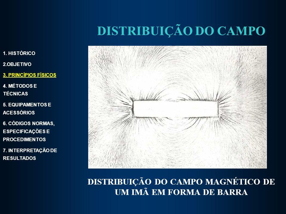 DISTRIBUIÇÃO DO CAMPO MAGNÉTICO DE UM IMÃ EM FORMA DE BARRA 1.
