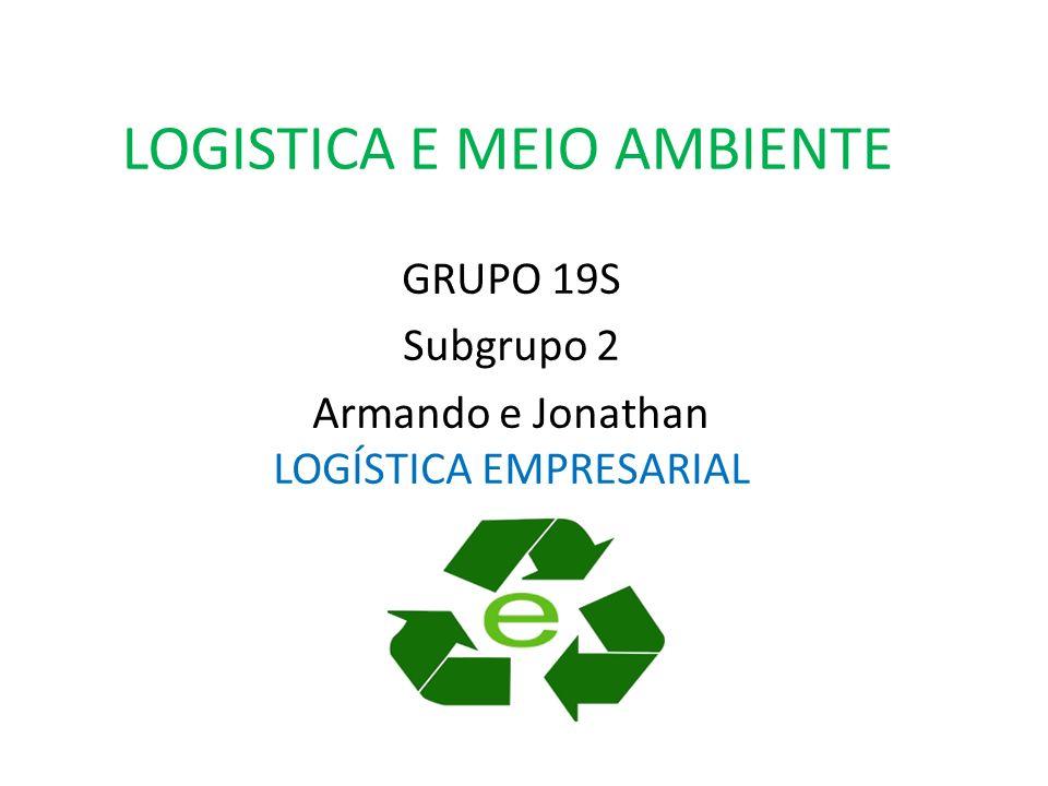 LOGISTICA E MEIO AMBIENTE GRUPO 19S Subgrupo 2 Armando e Jonathan LOGÍSTICA EMPRESARIAL