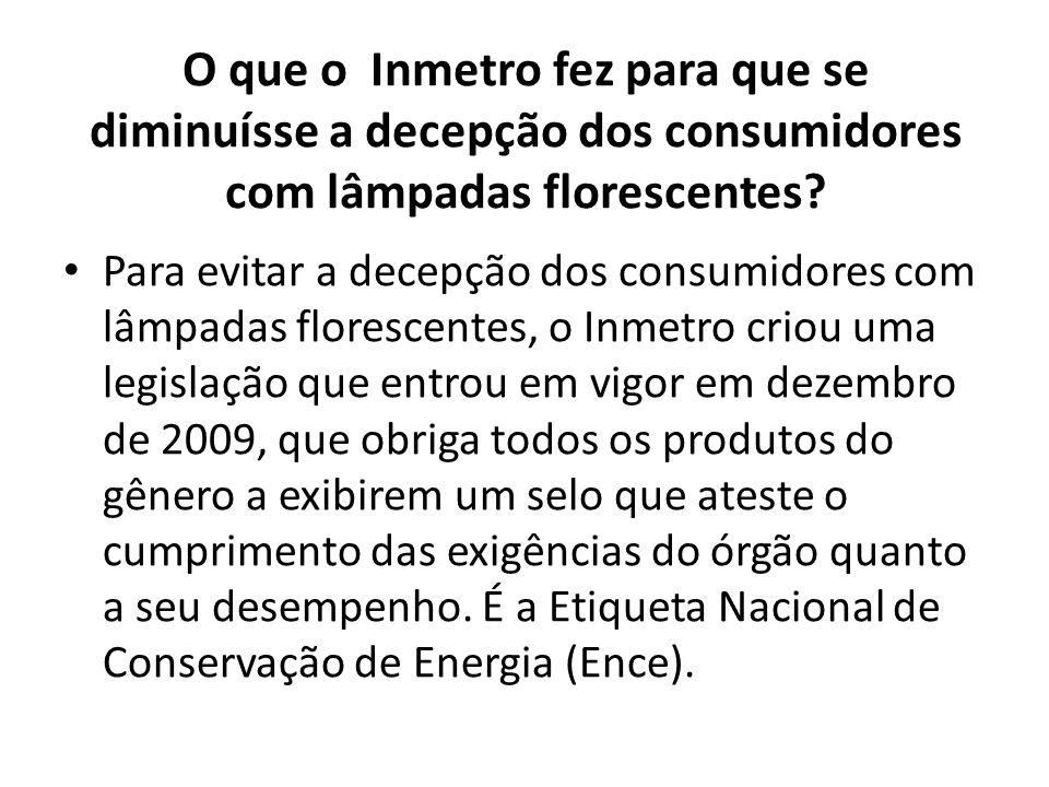 Como anda a questão do descarte de lâmpadas florescentes no Brasil.