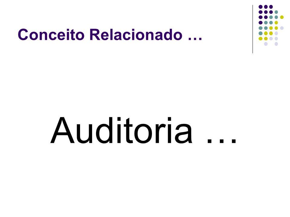 Conceito Relacionado … Auditoria …