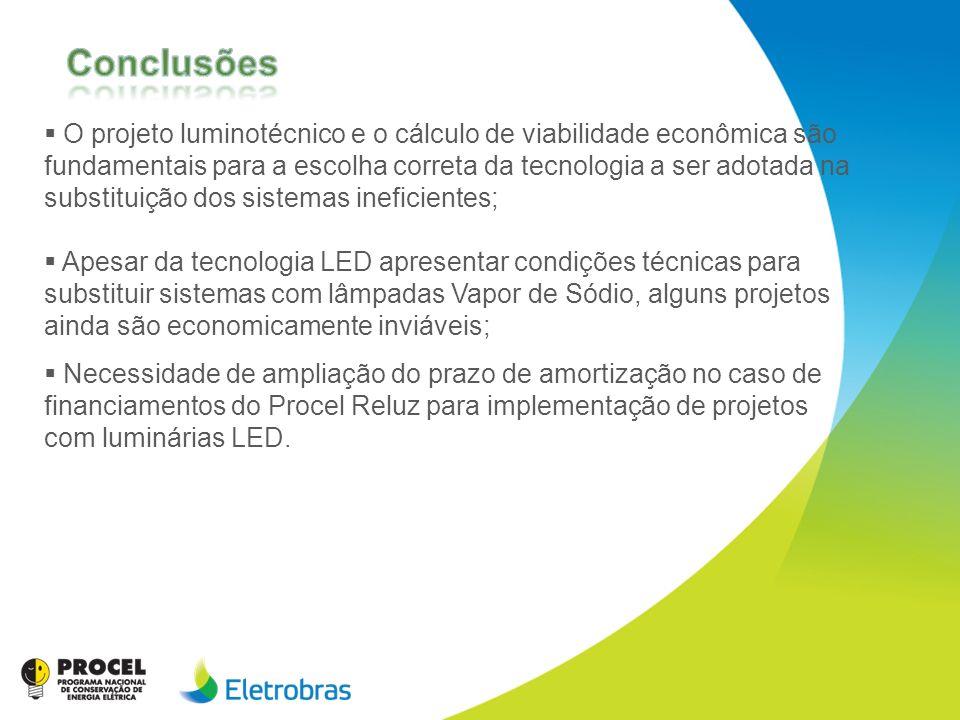 O projeto luminotécnico e o cálculo de viabilidade econômica são fundamentais para a escolha correta da tecnologia a ser adotada na substituição dos s