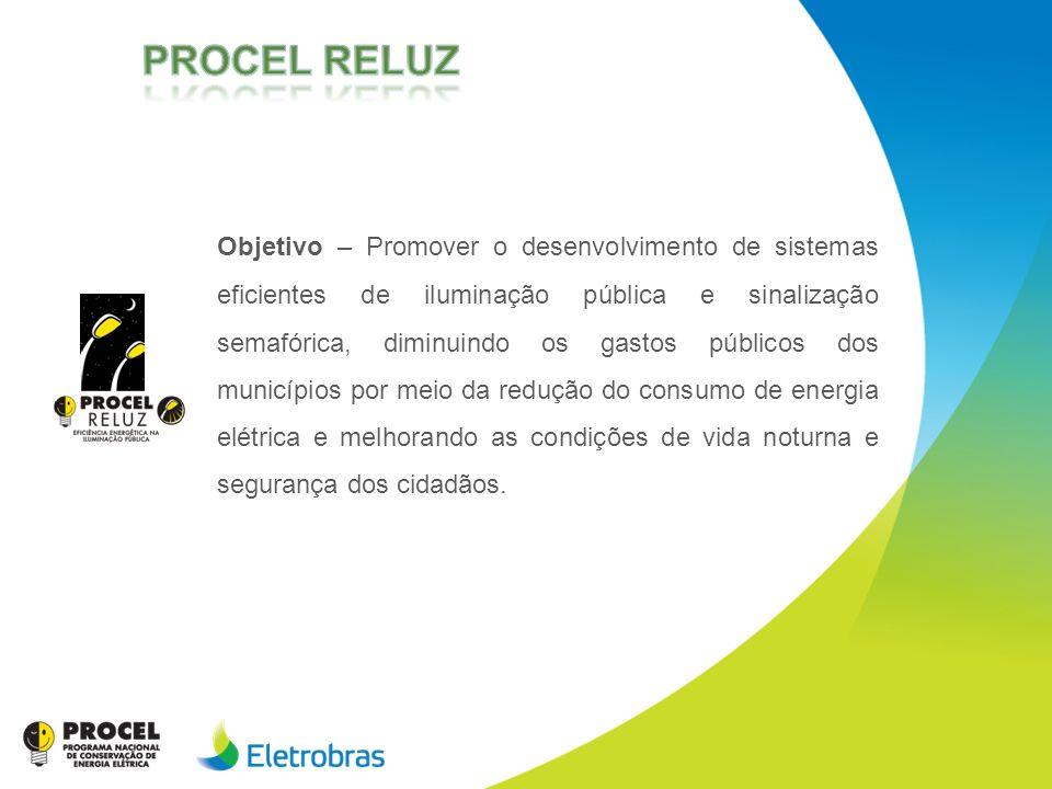 Objetivo – Promover o desenvolvimento de sistemas eficientes de iluminação pública e sinalização semafórica, diminuindo os gastos públicos dos municíp