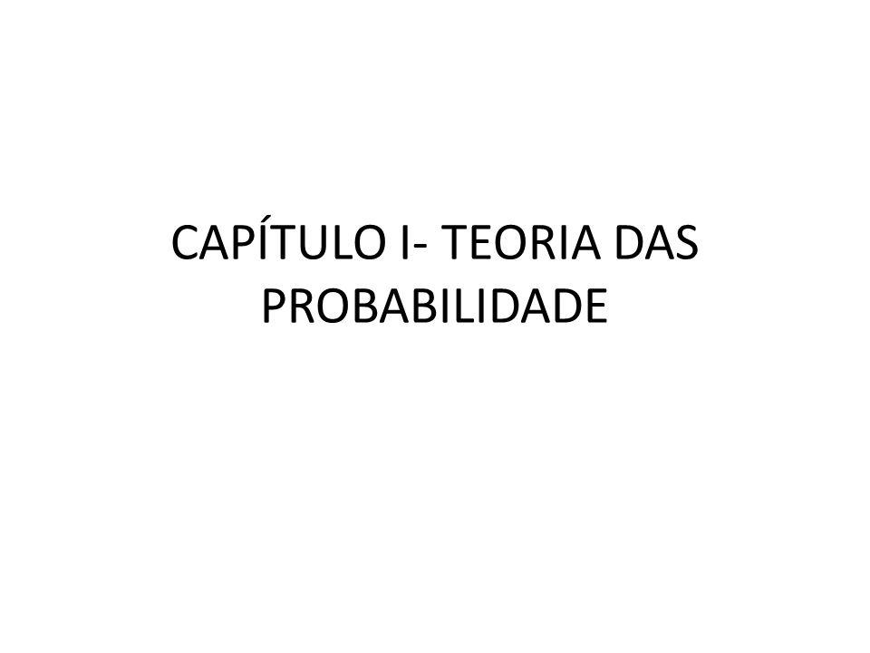 2 Axiomas da Probabilidade Para qualquer evento A, associa-se um número P(A), chamado de probabilidade do evento A.