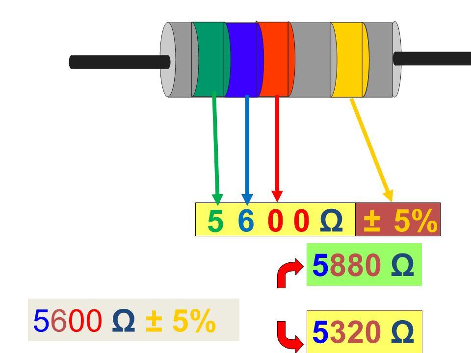 5 60 Ω±5% 5600 Ω ± 5% 5880 Ω 5320 Ω