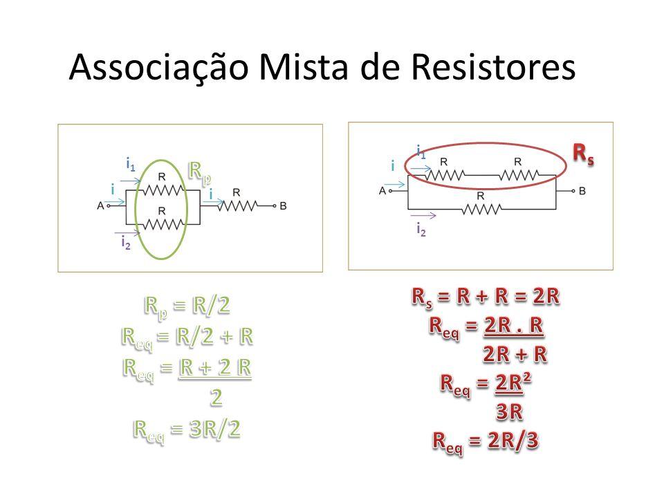 Associação Mista de Resistores i i1i1 i2i2 i i1i1 i2i2 i