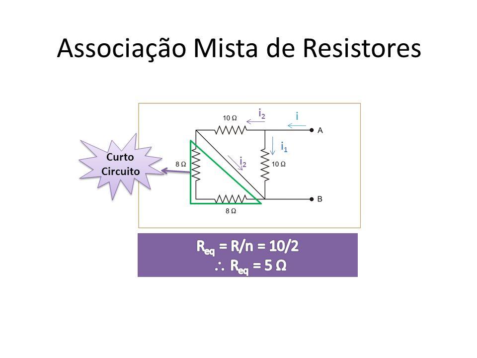 Associação Mista de Resistores i i1i1 i2i2 i2i2 Curto Circuito