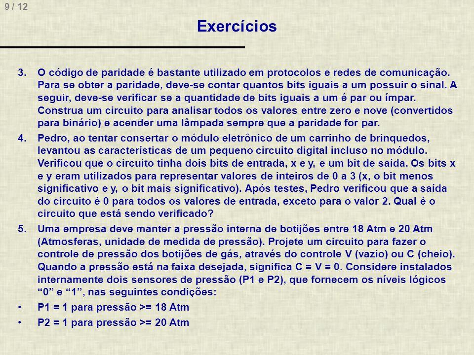 10 / 12 Exercícios 6.