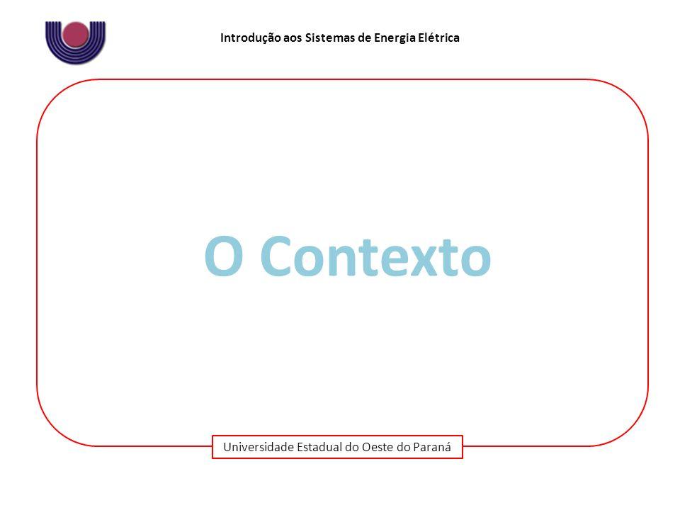 Universidade Estadual do Oeste do Paraná Introdução aos Sistemas de Energia Elétrica O Contexto