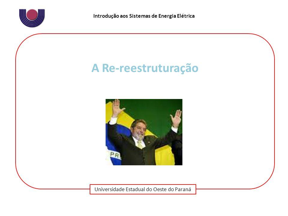 Universidade Estadual do Oeste do Paraná Introdução aos Sistemas de Energia Elétrica A Re-reestruturação