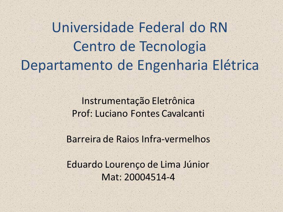 Universidade Federal do RN Centro de Tecnologia Departamento de Engenharia Elétrica Instrumentação Eletrônica Prof: Luciano Fontes Cavalcanti Barreira