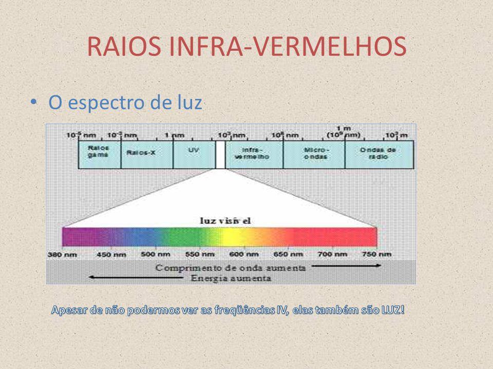 RAIOS INFRA-VERMELHOS O espectro de luz