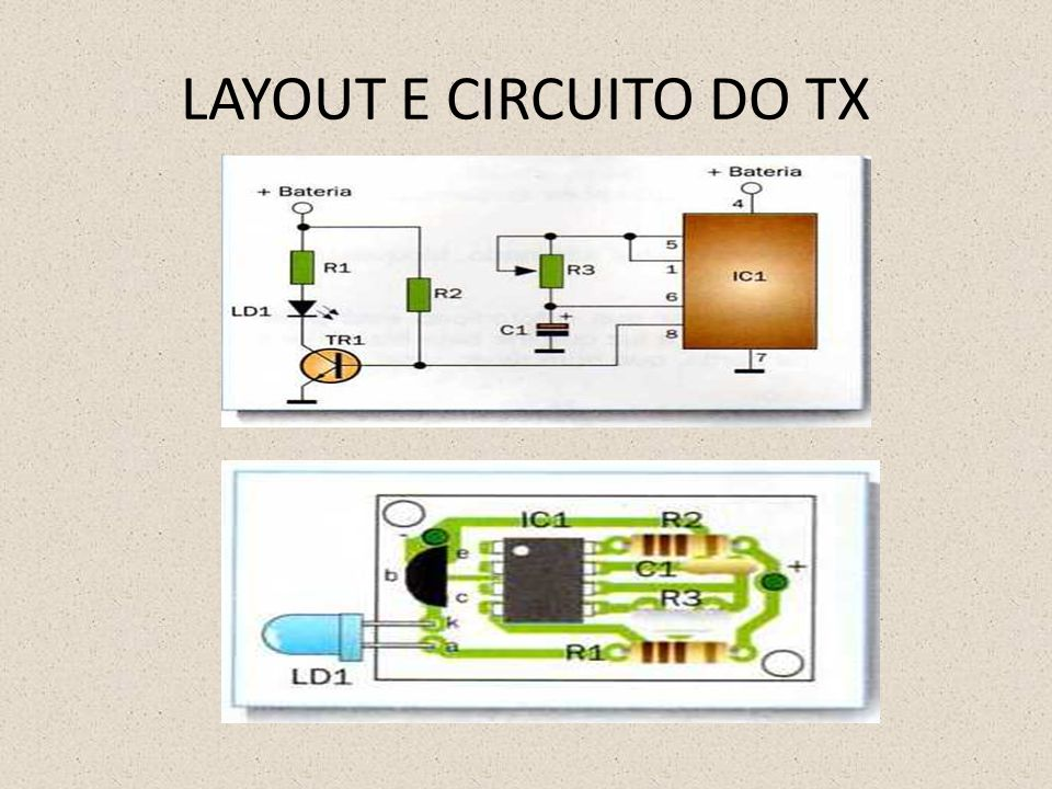 LAYOUT E CIRCUITO DO RX